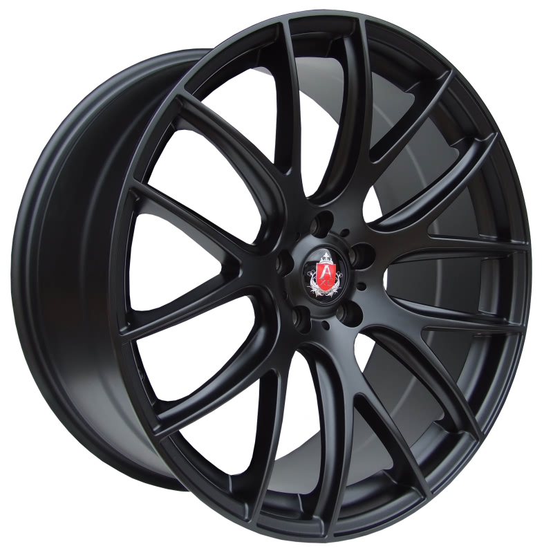 "NEW 19"" AXE CS LITE ALLOY WHEELS IN MATT BLACK, VERY DEEP CONCAVE 9.5"" REARS"